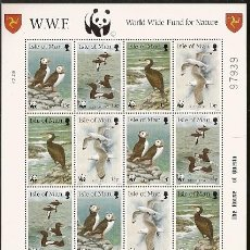 Sellos: ISLA DE MAN ** & WWF, AVES MARINAS 1989 (408). Lote 98686775