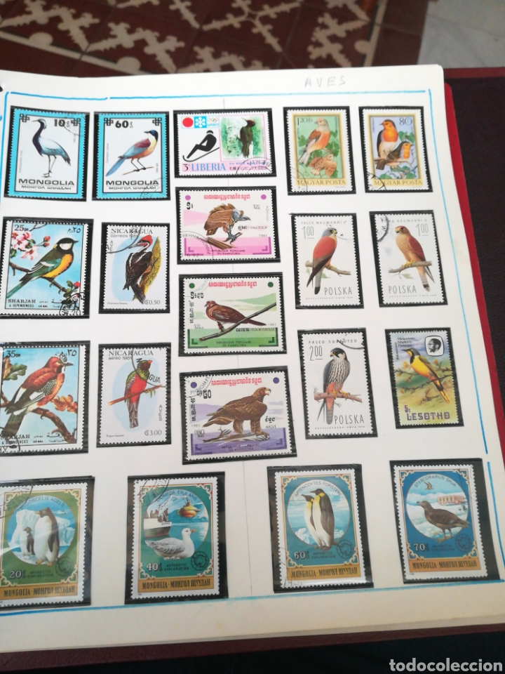 Sellos: 105 sellos temática Aves. - Foto 3 - 107712670