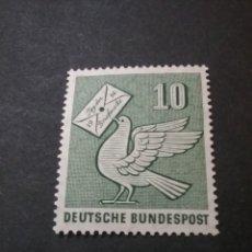 Sellos: SELLOS DE ALEMANIA R. FEDERAL NUEVOS. 1956. PALOMA. SOBRE. CARTA. DIA DEL SELLO.. Lote 108317150