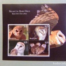 Sellos: TONGA / NIUAFO' OU 2012 FAUNA BIRDS OWLS CHOUETTES LECHUZAS BUHO YVERT ** MNH. Lote 111460811