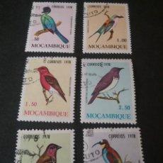 Francobolli: SELLOS DE MOZAMBIQUE MATASELLADOS CON BISAGRA. 1978. PAJAROS. ANIMALES. TAURACO. CORACIAS. FAUANA. A. Lote 113335835