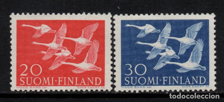 FINLANDIA 445/46** - AÑO 1956 - FAUNA - AVES - DIA DE LOS PAISES ESCANDINAVOS (Sellos - Temáticas - Aves)