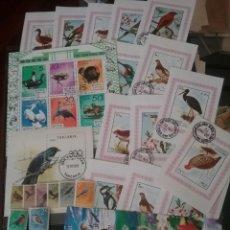 HB+Sellos (Seychelles, Corea, Suriman, Congo..). Tematica aves, pajaros. Naturaleza. Animales. Fauna