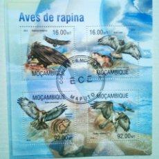 Sellos: AVES RAPACES HOJA BLOQUE DE SELLOS DE MOZAMBIQUE. Lote 133524521