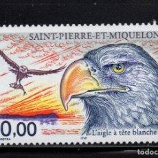 Sellos: SAN PIERRE AEREO 78** - AÑO 1998 - FAUNA - AVES RAPACES. Lote 133549942