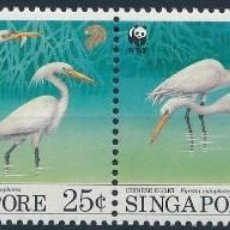 Timbres: SELLOS SINGAPORE / SINGAPUR 1993 AVES. Lote 134064218