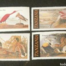 Sellos: SELLOS R. U. TANZANIA NUEVOS/1986/PAJAROS/PATOS/AUDUBO/ORNITOLOGO./PINTURAS/FAUNA/AVES/ARTE/NATURALE. Lote 194343053