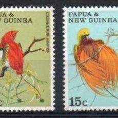 Sellos: PAPÚA NUEVA GUINEA AÑO 1970 YV 174/77*** AVES - FAUNA - NATURALEZA. Lote 138053662