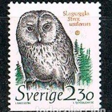 Timbres: SUECIA 1503, CÁRABO URALENSE (STRIX URALENSIS), NUEVO . Lote 139890818