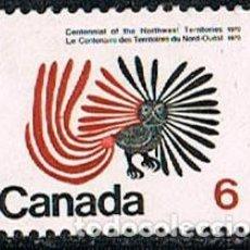 Sellos: CANADA Nº 506, BUHO, NUEVO ***. Lote 140013922