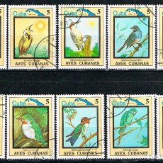 Sellos: CUBA Nº 2802/11, PÁJAROS, SERIE COMPLETA USADA. Lote 140015738
