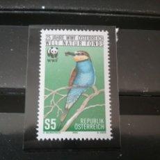 Sellos: SELLOS AUSTRIA (OSTERREICH) NUEVOS/1988/25 ANIV. W.W.F/AVES/PAJAROS/ANIMALES/OSO/MAMIFERO/NATIRALEZ/. Lote 140396606