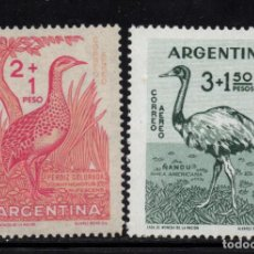 Timbres: ARGENTINA AEREO 65/66** - AÑO 1960 - FAUNA - AVES. Lote 142691742