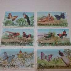 Sellos: SELLOS MANAMA (E.A.U)MTDOS/1972/AVES Y MARIPOSAS/NATURALEZA/FAUNA/PAJAROS/FLORES/FLORA/. Lote 144914932
