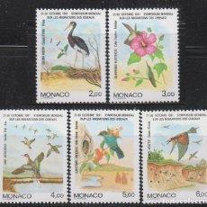 Sellos: MONACO 1754/8, SIMPOSIUM MUNDIAL SOBRE LA MIGRACIÓN DE LAS AVES, NUEVOS ***. Lote 146889150