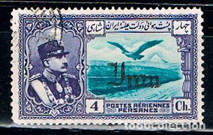 IRAN,IVERT AEREO Nº 54, 1935 REZA SHA PAHLAVI. AGUILA Y MONTAÑAS ALBORZ. AÉREOS. USADO (Sellos - Temáticas - Aves)