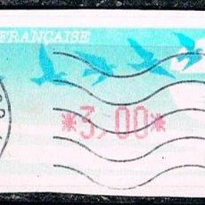 Sellos: FRANCIA, ETIQUETA DE VALOR VARIABLE IVERT Nº 160, AVES EN MIGRACIÓN, USADO. Lote 150459810