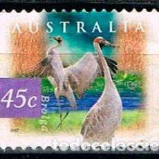 Sellos: AUSTRALIA 1647, GRULLA AUSTRALIANA, USADO SIN MATASELLAR. Lote 150781654