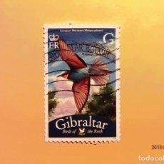 Sellos: GIBRALTAR - AVES - ABEJARUCO - MEROPS APIASTER.. Lote 150959318