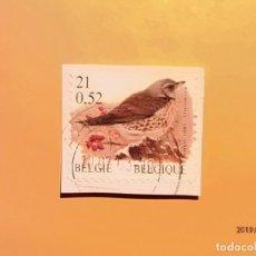 Sellos: BELGICA - AVES - TURDUS PILARIS - ZORZAL REAL.. Lote 150960298