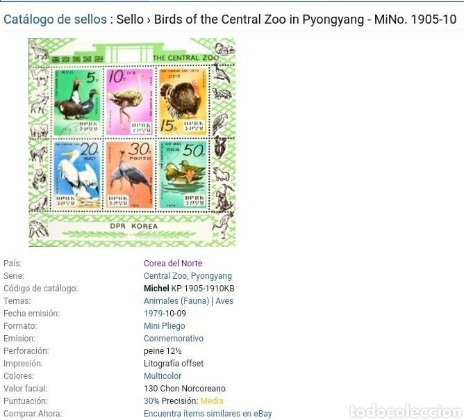 Sellos: Sellos Corea Norte (DPRK) mtdos/1979/Aves/Fauna/Pavo/Avestruz/Pelicano/Naturaleza/Pintada/Pato/anima - Foto 2 - 151533373