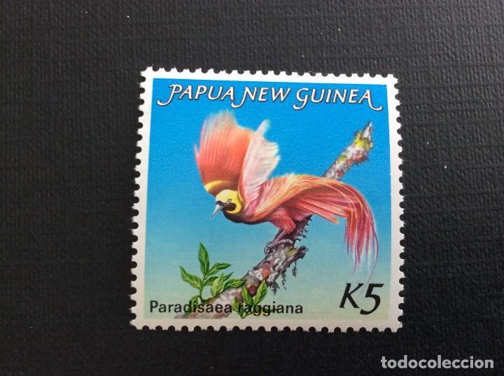 PAPUA NUEVA GUINEA Nº YVERT 477*** AÑO 1984. AVES DEL PARAISO. PARADISAEA RAGGIANA (Sellos - Temáticas - Aves)