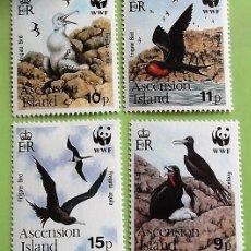 Sellos: ASCENSIÓN. 503/06 PROTECCIÓN NATURA: AGUILA FRAGATA. WWF. 1990. SELLOS NUEVOS CON SEÑAL DE CHARNELA. Lote 151960710