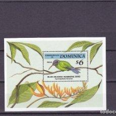 Sellos: DOMINICA. PAJAROS. HOJA BLOQUE 259. NUEVA.. Lote 152126534