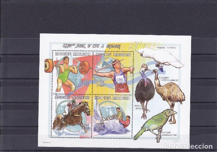 MADAGASCAR. PAJAROS/DEPORTES. NUEVA (Sellos - Temáticas - Aves)