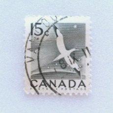 Sellos: SELLO POSTAL CANADA 1954, 15 CENTS , ALCATRAZ DEL NORTE , CONMEMORATIVO, USADO. Lote 153079330