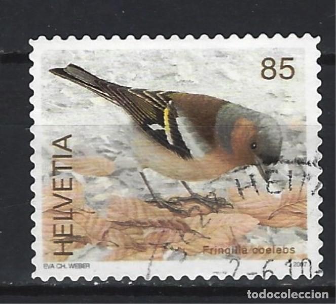 AVES / SUIZA - SELLO USADO (Sellos - Temáticas - Aves)