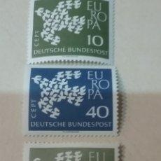 Sellos: SELLOS ALEMANIA, R. FEDERAL NUEVOS/1961/EUROPA CEPT/19 PALOMAS F8RMANDO UNA SOLA/AVE/PAJARO. Lote 154865842