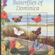 Sellos: DOMINICA - HB - SERIE COMPLETA - MARIPOSAS - NUEVA, SIN FIJASELLOS. Lote 155500958