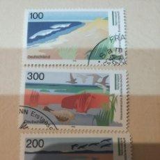 Sellos: SELLOS ALEMANIA, R. FEDERAL MTDO/1996/TURISMO. PARQUES NACIONALES. ZONA DE LOS LAGOS/AVES/PATOS/PAIS. Lote 155704037