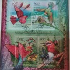 Timbres: HB R. CENTROAFRICANA MTDA/2012/FAUNA/AVES/PAJAROS/ANIMALES/ABEJA/INSECTO/SAVISPAS/FLORES/FLORA/NATUR. Lote 167636654