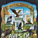 Sellos: MOZAMBIQUE - HOJA BLOQUE - SERIE COMPLETA - AVES - NUEVA, SIN FIJASELLOS . Lote 168214056