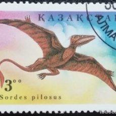 Sellos: 1994. AVES. KAZAJISTÁN. 38. ANIMAL PREHISTÓRICO. SERIE CORTA. USADO.. Lote 169937656