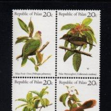 Sellos: PALAU 5/8** - AÑO 1983 - FAUNA - AVES. Lote 194350030