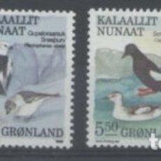 Sellos: SELLOS GROENLANDIA 1989 Y&T 179/82** AVES. Lote 176133523