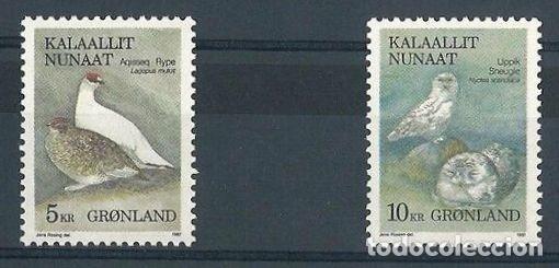 SELLOS GROENLANDIA 1987 Y&T 164/65** AVES (Sellos - Temáticas - Aves)