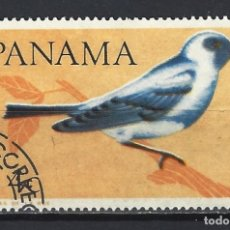 Sellos: AVES / PANAMÁ 1965 - TÁNGARA AZULADA - SELLO USADO. Lote 182306592