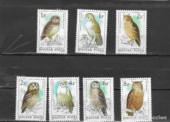 HUNGRIA Nº 2952 AL 2858 (**) (Sellos - Temáticas - Aves)