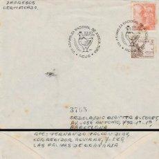 Sellos: AÑO 1955, ASAMBLEA NACIONAL DE AVICULTURA EN REUS (TARRAGONA), SOBRE CIRCULADO. Lote 183413546