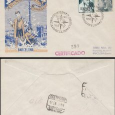Sellos: AÑO 1955 ,CONGRESO INTERNACIONAL DE COLOMBOFILIA EN BARCELONA, SOBRE DE PANFILATELICAS CIRCULADO. Lote 183413773