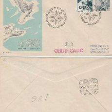 Sellos: AÑO 1955 ,CONGRESO INTERNACIONAL DE COLOMBOFILIA EN BARCELONA, SOBRE DE ALFIL CIRCULADO. Lote 183413855