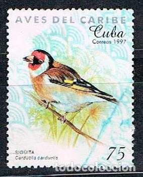CUBA Nº 4058, JILGUERO EUROPEO O CADELINA, USADO (Sellos - Temáticas - Aves)