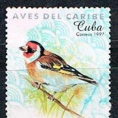 Sellos: CUBA Nº 4058, JILGUERO EUROPEO O CADELINA, USADO. Lote 221655445