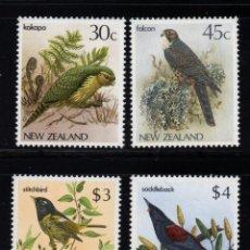 Sellos: NUEVA ZELANDA 924/27** - AÑO 1986 - FAUNA - AVES. Lote 190152957