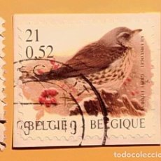 Sellos: BÉLGICA - AVES - ZORZAL REAL.. Lote 190384923