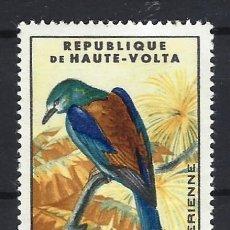 Sellos: AVES / ALTO VOLTA 1965, CARRACA ABISINIA - SELLO NUEVO C/F*. Lote 190820137